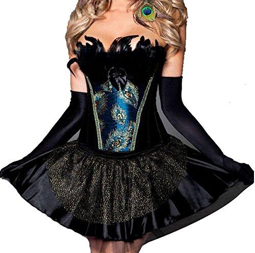 zanuce-da-donna-senza-spalline-burlesque-corsetto-piume-pavone-splendid-blackskirt-xx-large
