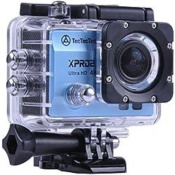 [NUOVO] TecTecTec XPRO2 Action Camera Ultra HD 4K - WiFi Camera di altissima qualità Ultra HD 16 Mp Blue