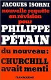 echange, troc Jacques Isorni - Nouvelle requête en révision pour Philippe Pétain