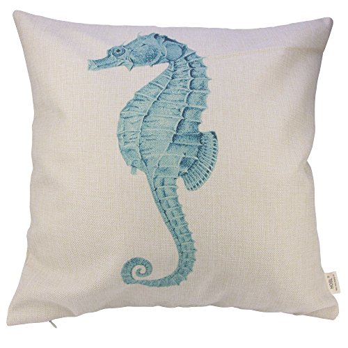 HOSL Cotton and Linen Ocean Park Theme Decorative Pillow Cover Case 18 X 18  Inch Pack of 4