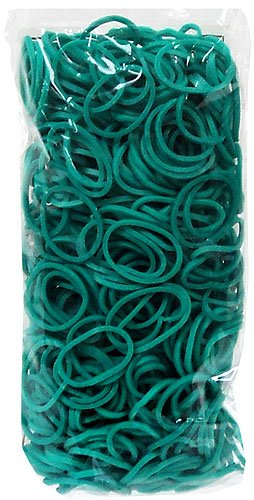 Rainbow Loom Latex Free Rubber Band Refill + C-clips - Teal