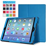 MoKo Apple iPad Air Case - Slim Folding Case for Apple iPad 5 / iPad Air (5th Gen) Tablet, BLUE (With Smart Cover Auto Wake / Sleep)