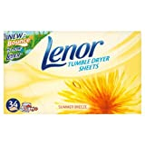 Lenor Tumble Dryer Sheets Summer Breeze 4x34 per pack