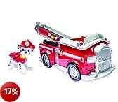 Nickelodeon, Paw Patrol Personaggio con veicolo, Marshall e il suo camion dei pompieri