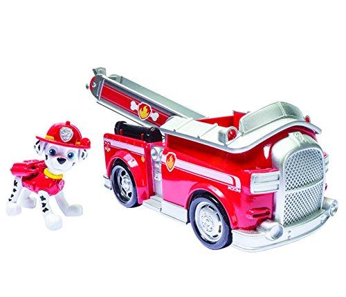 Paw Patrol - 20063721 - Figurine Animation Paw Patrol + Véhicule - Marcus est prêt à combattre le feu