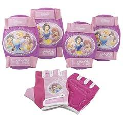 Disney Princess Pink Bike Bicycle Skating 6 piece Pad Set (Knee Pads, Elbow Pads... by Pacific Cycle