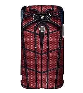 Printvisa Premium Back Cover Spider Man Web Design For LG G5::LG G5 Dual H860N with dual-SIM card slots