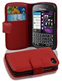 Blackberry Q10 case , CADORABO Q10 Case Wallet [RED] Premium PU leather Wallet Case Flip Cover for Q10- RED[Lifetime Warranty]
