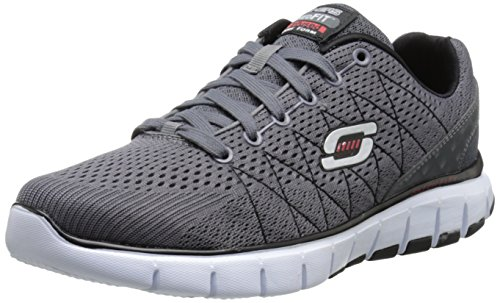 Skechers Skech-Flex, Low-Top Sneaker uomo, Grigio (CCBK), 48.5