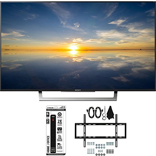 Sony-XBR-43X800D-43-Class-4K-HDR-Ultra-HD-TV-w-Slim-Wall-Mount-Bundle-includes-TV-Slim-Flat-Wall-Mount-Ultimate-Kit-and-6-Outlet-Power-Strip-with-Dual-USB-Ports