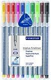 Staedtler Triplus Fineliner Pens, Pack of 10, Assorted Colors (334SB10)