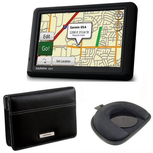 Garmin nüvi 1490T 5-Inch GPS Navigator with nuMaps Lifetime Updates, Carry Case and Friction Mount