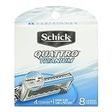 Schick Quattro Titanium Refill, 8 Count