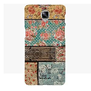 iSweven Printed _oneplus3_3167 Color Full Flowers Design Multicolored Matte finish Back case cover for one plus 3