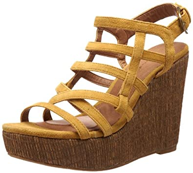 Gwyneth Shoes Women's Yuki Sandal,Yellow,9.5 B US