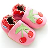 "Eggi Soft Sole ""Cheery Cherries"" Crib Shoes"