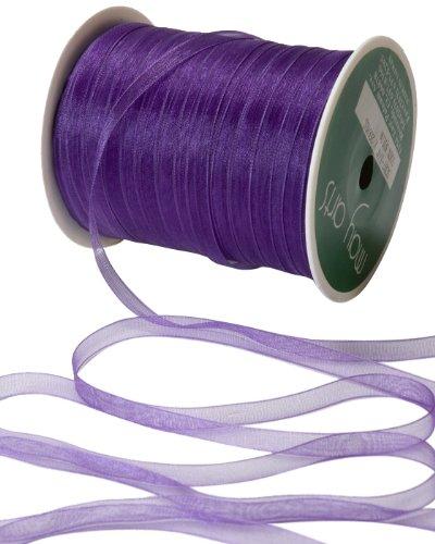 May Arts 1/4-Inch Wide Ribbon, Purple Sheer