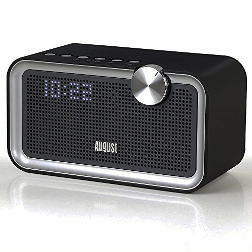 August SE55 - Altoparlante Bluetooth con EQ, Radio FM e Ingresso Aux - Radiosveglia Altoparlante Home System