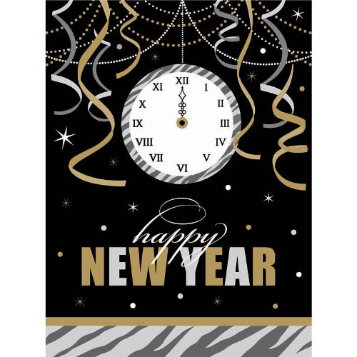 New Year's Wild Countdown Plastic Tablecover Party Accessory