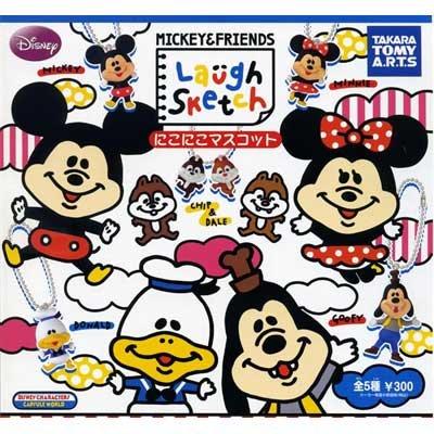 カプセル ミッキー&フレンズ MICKY & FRIEND Laugh Sketch にこにこマスコット 全5種セット