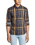 Celio Men's Casual Shirt (3596654158725_Cajackaw15_Medium_Marine)