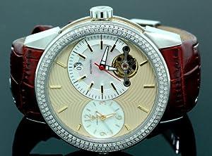 Mens Aqua Master Diamond Automatic Red Watch 1.75 ct w-317d