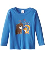 Zutano Little Boys' Forest Friends Long Sleeve Screen T-Shirt