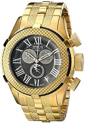 Invicta Men's 17165 Reserve Analog Display Swiss Quartz Gold Watch