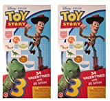 Toy Story 3 (2 Pack) Deluxe Valentine Cards 34 Count with 35 Bonus Temporary Tattoo's