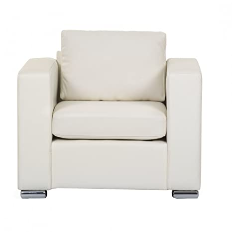 Leather Armchair - Beige - Sofa - HELSINKI