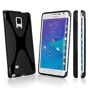 Galaxy Note Edge Case, BoxWave® [BodySuit] Premium Textured TPU Rubber Gel Skin Case for Samsung Galaxy Note Edge - Jet Black