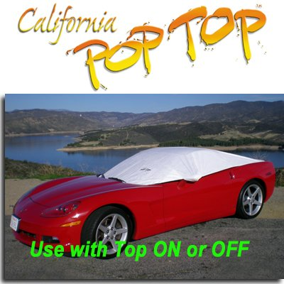 Corvette Coupe & Convertible (2005-2011) DuPont Tyvek PopTop Sun Shade, Interior, Cockpit, Car Cover. Use with Top ON/OFF, UP/DOWN - SEMA SHOW NEW PRODUCT AWARD WINNER, C6,2005,2006,2007,2008,2009,2010,2011