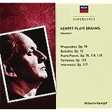 Kempff plays Brahms, Volume 1