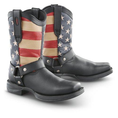 Men's Durango Boot Rebel Patriotic Harness Boots, FLAG, 12M