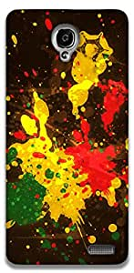 The Racoon Grip Rasta Splash hard plastic printed back case / cover for Alcatel Onetouch Idol X 6040D