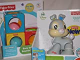 Thumper Click Toy and Easy Stack Blocks Color and Sounds By Fisher-price Early Development Toys Twin Pack