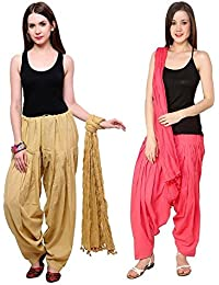 Like Beige Light Maganta Full Patiala With Dupatta Set Combo Of Combo Offer For Women's