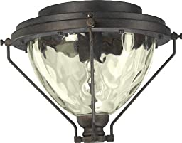 Quorum 1376-844, Clear Water Glass Patio Light Kit, Toasted Sienna