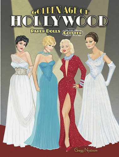 Golden Age of Hollywood Paper Dolls with Glitter!