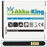 Akku-King Battery for LG Optimus 4X HD / L9 / LTE 2 / P760 / P769 / P880 / VS930 - replaces BL-53QH Li-Ion - 2200mAh
