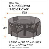 Classic Accessories 55-186-015101-EC Ravenna Patio Bistro Table and Chair Cover, Taupe