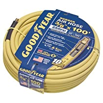 Goodyear Rubber Air Hose - 3/8in. x 100ft., 250 PSI, Model# 46506