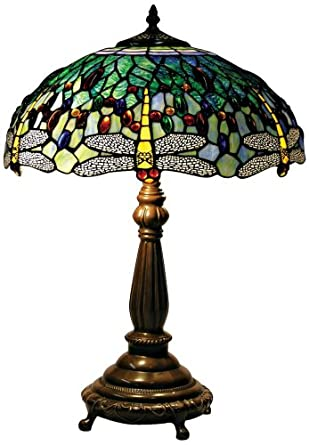 yellow dragonfly tiffany style table lamp. Black Bedroom Furniture Sets. Home Design Ideas