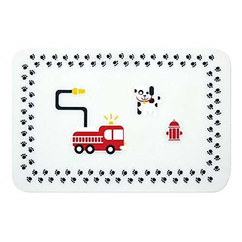Bumkins Silicone Placemat, Fire Engine - 1