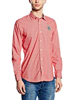 Galvanni Camisa Hombre Ias (Rojo / Blanco)