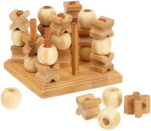 Philos 3266 - Tic Tac Toe, 3-D, Bambus, Green Games, Strategiespiel