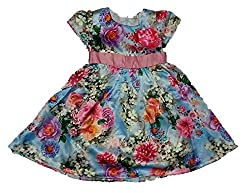 Wise Guys Party Wear Designer Frock for Baby Girls with Bow (18 to 24 Months) FROCK4