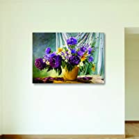 House Things Flower Pot Canvas Print 29 X 20.56, Inches Wall Décor Art - B01LETQ2G6