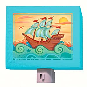 Oopsy Daisy Fine Art for Kids NL8047AD Pirate Ship Night Light