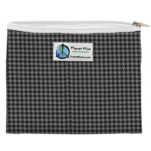planet-wise-zipper-sandwich-bag-gray-houndstooth-by-planet-wise